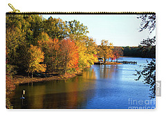 Fishing Pier At Charlie Elliott Wildlife Center Carry-all Pouch by Barbara Bowen
