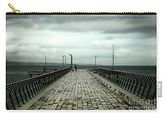 Carry-all Pouch featuring the photograph Fishing Pier by Perry Webster