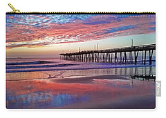Fishing Pier Sunrise Carry-all Pouch by Suzanne Stout