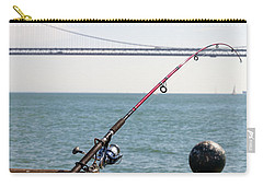 Fishing Rod On The Pier In San Francisco Bay Carry-all Pouch