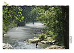 Carry-all Pouch featuring the photograph Fishing The Gunpowder Falls by Donald C Morgan