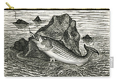 Carry-all Pouch featuring the photograph Fishing The Rocks by Charles Harden