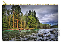 Fishing The Run Carry-all Pouch