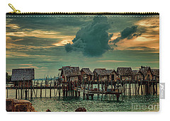 Carry-all Pouch featuring the photograph Fishing Village by Ray Shiu