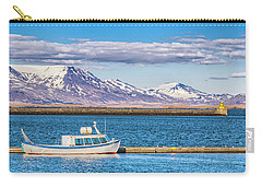 Carry-all Pouch featuring the photograph Fishing by Wade Courtney