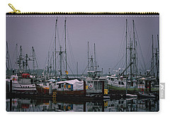 Fishing Wharf In Clearing Mist Carry-all Pouch by Richard Farrington