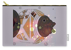 Carry-all Pouch featuring the mixed media Fishy 2 by Ann Calvo