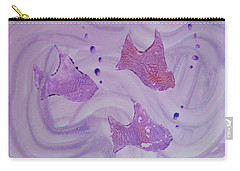 Carry-all Pouch featuring the painting Fishy Trio by Michele Myers