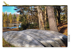 Carry-all Pouch featuring the photograph Five Canoes At Woodcraft Camp by David Patterson