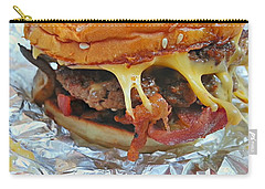 Carry-all Pouch featuring the photograph Five Guys Cheeseburger by Robert Knight