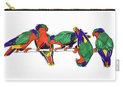 Five Rimatara Lorikeets Carry-all Pouch