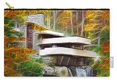 Fixer Upper - Frank Lloyd Wright's Fallingwater Carry-all Pouch by John Robert Beck