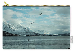 Fjord Landscape In The North Of Norway  Carry-all Pouch by Tamara Sushko