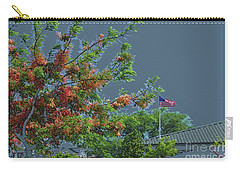 Flag And Shower Tree Carry-all Pouch by Craig Wood