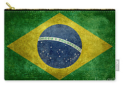 Flag Of Brazil Vintage 18x24 Crop Version Carry-all Pouch