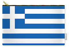 Flag Of Greece Carry-all Pouch by Robert Banach