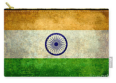 Flag Of India Vintage 18x24 Crop Version Carry-all Pouch