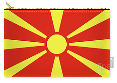 Carry-all Pouch featuring the digital art Flag Of Macedonia by Bruce Stanfield