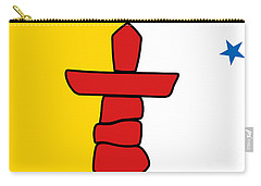 Flag Of Nunavut High Quality Authentic Hd Version Carry-all Pouch