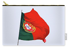 Carry-all Pouch featuring the photograph Flag Of Portugal by Menega Sabidussi