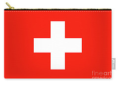 Carry-all Pouch featuring the digital art Flag Of Switzerland by Bruce Stanfield