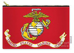 Flag Of The United States Marine Corps Carry-all Pouch by Pg Reproductions