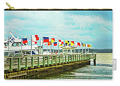 Flags At The Pier Carry-all Pouch