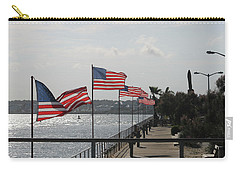 Flags On The Inlet Boardwalk Carry-all Pouch by Robert Banach