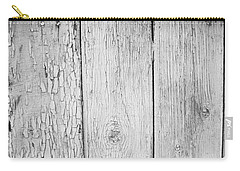 Flaking Grey Wood Paint Carry-all Pouch by John Williams
