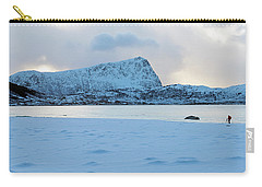 Carry-all Pouch featuring the photograph Flakstad, Lofoten, by Dubi Roman