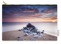 Carry-all Pouch featuring the photograph Flame On The Horizon by Edward Kreis
