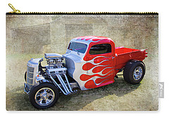 Carry-all Pouch featuring the photograph Flamed Pickup by Keith Hawley
