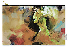 Carry-all Pouch featuring the painting Flamenco 56y3 by Gull G