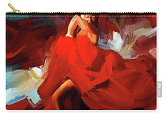 Carry-all Pouch featuring the painting Flamenco Dance 7750 by Gull G