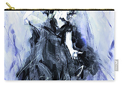 Carry-all Pouch featuring the painting Flamenco Dancer Art 45h by Gull G