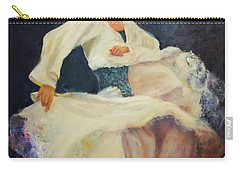 Flamenco In White Carry-all Pouch
