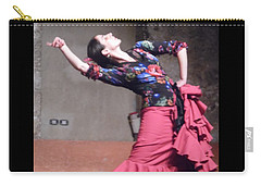Carry-all Pouch featuring the photograph Flamenco Passion by Esther Newman-Cohen