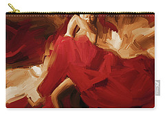 Carry-all Pouch featuring the painting Flamenco Spanish Dance Painting 01 by Gull G