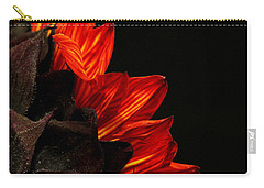 Carry-all Pouch featuring the photograph Flames by Judy Vincent