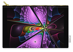 Flames On Black -m- Carry-all Pouch