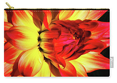 Flaming Blossom Carry-all Pouch by Tony Grider
