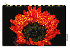 Carry-all Pouch featuring the photograph Flaming Flower by Judy Vincent
