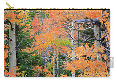 Carry-all Pouch featuring the photograph Flaming Forest by David Chandler