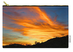 Flaming Hand Sunset Carry-all Pouch