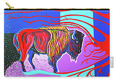 Flaming Heart Buffalo Carry-all Pouch
