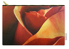 Flaming Rose Carry-all Pouch