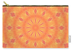 Carry-all Pouch featuring the digital art Flaming Sun by Elizabeth Lock