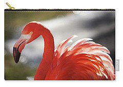 Flamingo 2 Carry-all Pouch by Marie Leslie