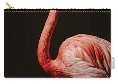 Carry-all Pouch featuring the photograph Flamingo 7 by Andrea Anderegg