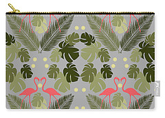 Flamingo And Palms Carry-all Pouch